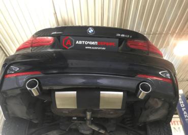 Двойной выхлоп BMW F30